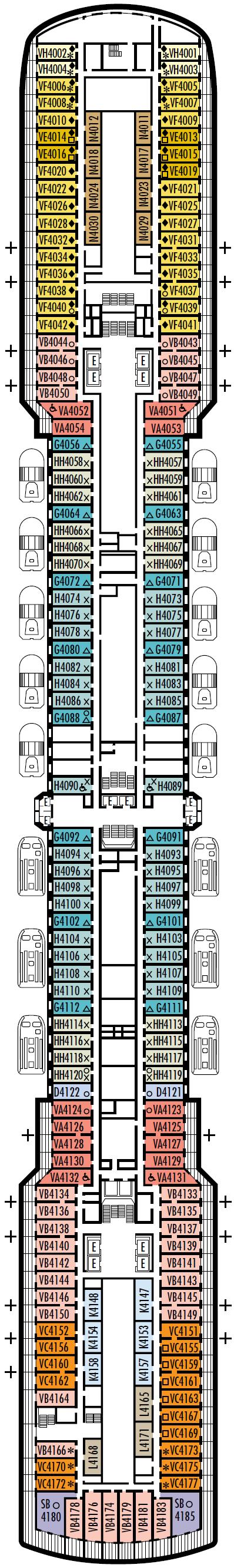 Ms Oosterdam Deck Plans Cruisekings