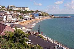 Ventnor Beach of the Isle of Wight