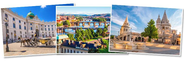 Prague, Vienna, Budapest