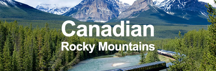 Rail Holidays in Canada - visit magnificent Rocky Mountains