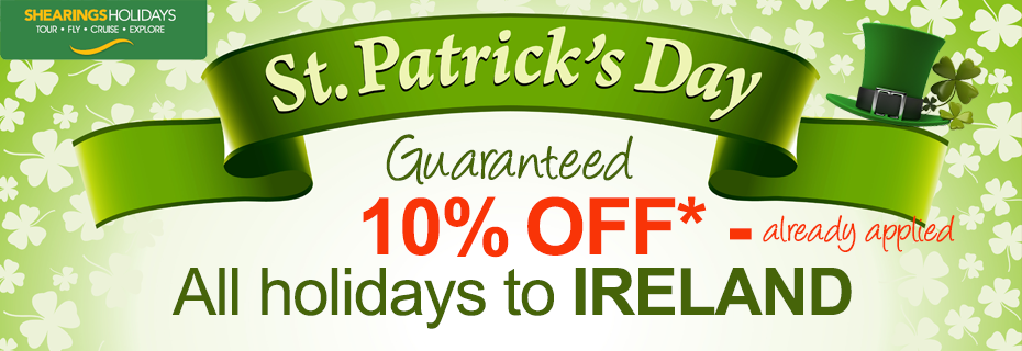 St:Patricks day offers, 10% discount on all Ireland tours