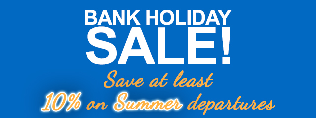 Shearings Bank Holiday Sale - Ends Monday - Save at least 10% - Summer Departures