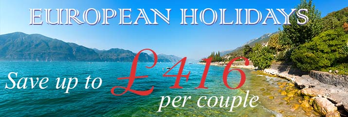 Europe Holidays Save up to £416 per couple