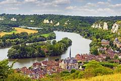 Les Andelys on river Seine, Normandy