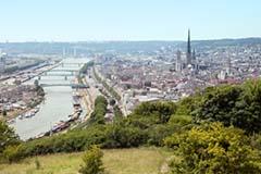 Rouen on river Seine