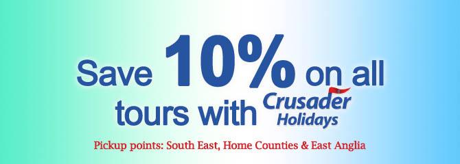 10% Sale on Crusader Holidays