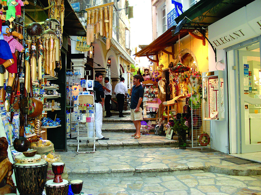 Corfu shopping