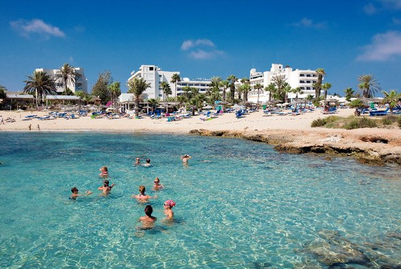 Ayia Napa beach from the sea