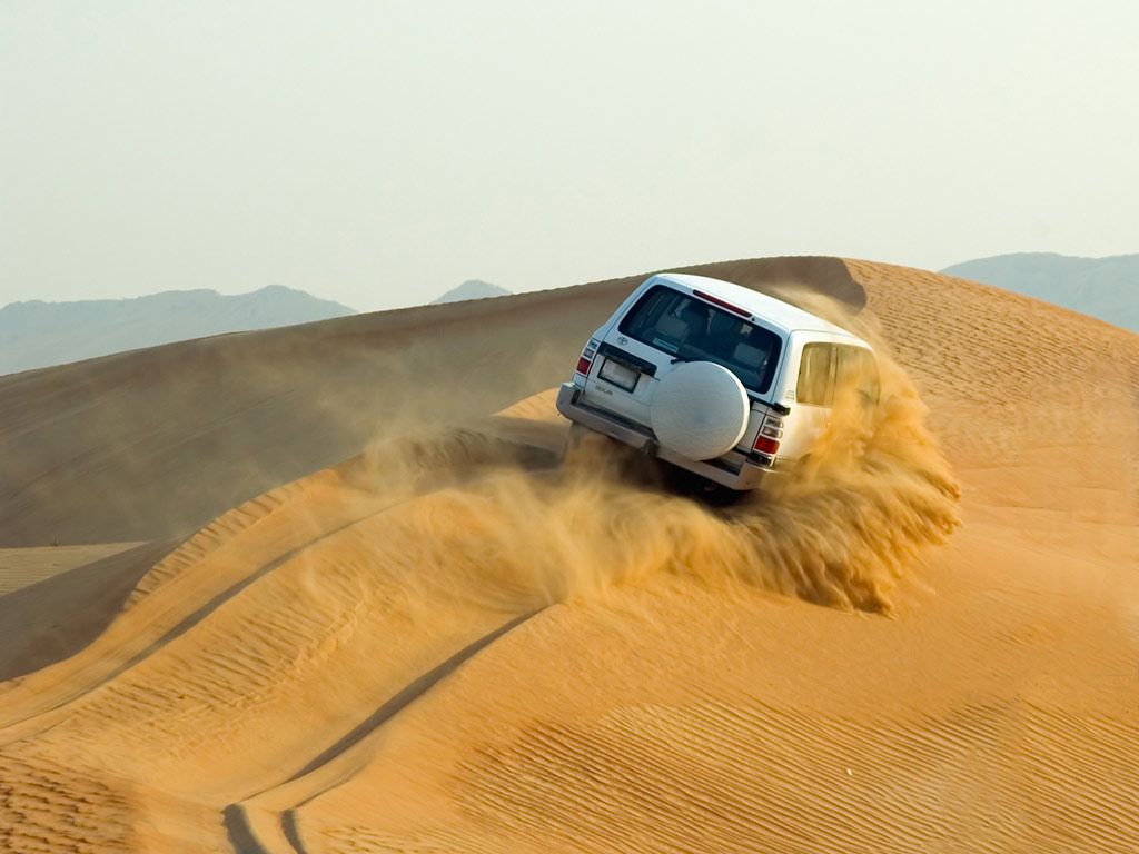 Dune drive, sand boarding and camel ride