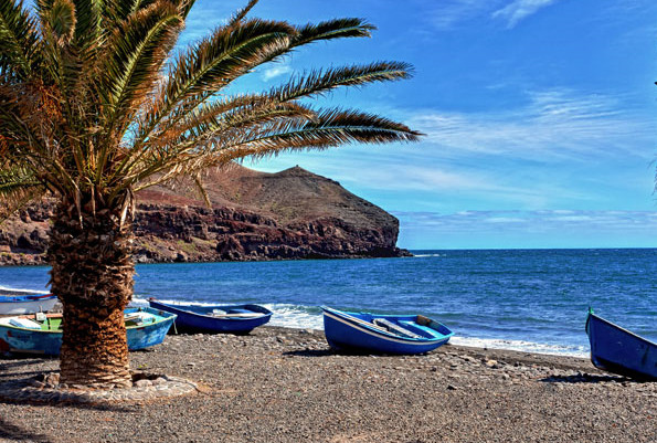 Boats on a Fuerteventura beach