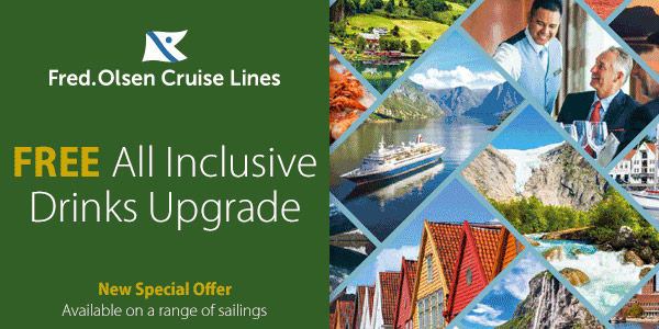 Free Drinks with Fred Olsen Cruises from Southampton