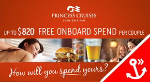 Princess Cruises - Spending Money offer