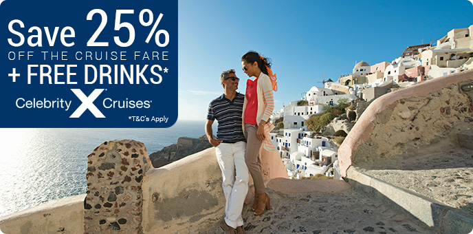 Celebrity Cruises - Up to 25% off