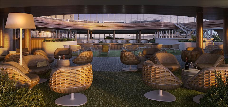 P&O Cruises Iona - SkyDome at sunset