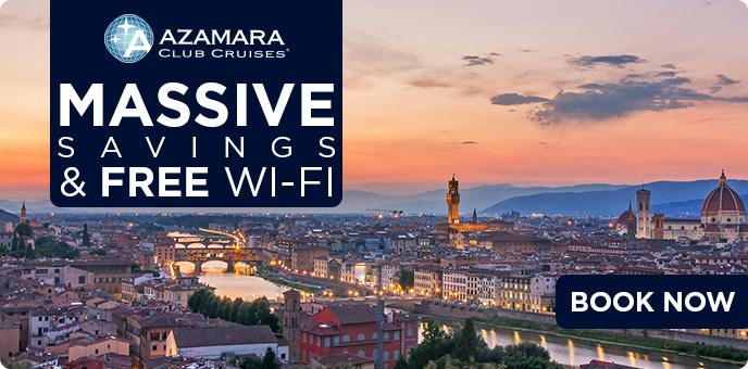 Azamara CLub Cruises - 25% OFF The Cruise Fare plus FREE Wi-Fi