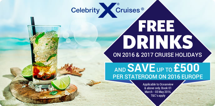 Celebrity Cruises with FREE drinks