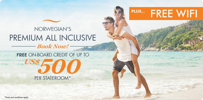 Norwegian Cruise Line $500 Onboard Credit