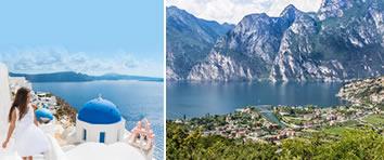 Lake Garda and Greece