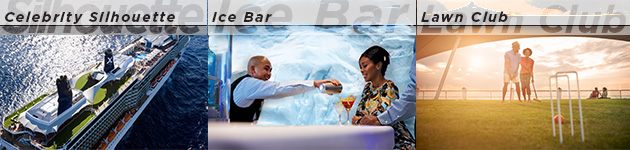 Celebrity Silhouette, Ice Bar, Lawn Club