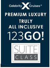 Celebrity Cruises 123GO Campaign Badge
