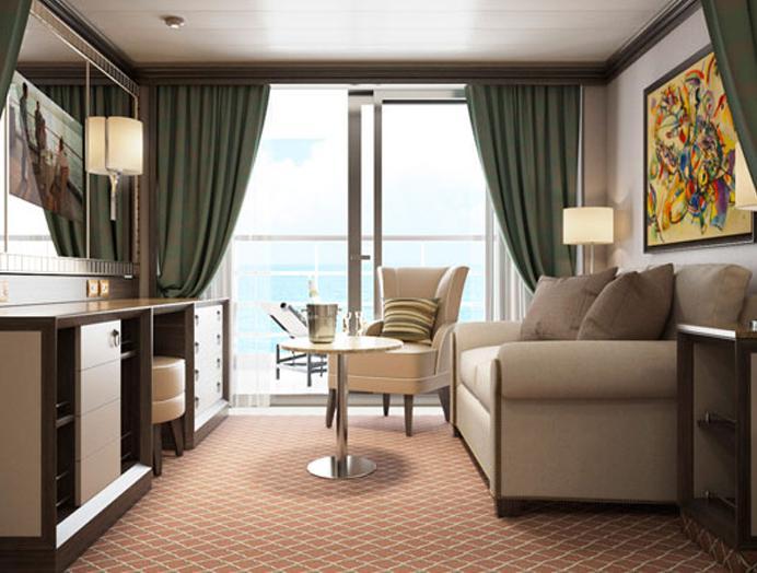 Classic Veranda Suite en Silversea
