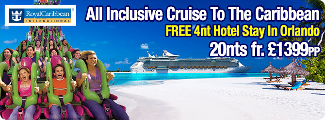 All Inclusive Cruise to the Caribbean with free Orlando stay