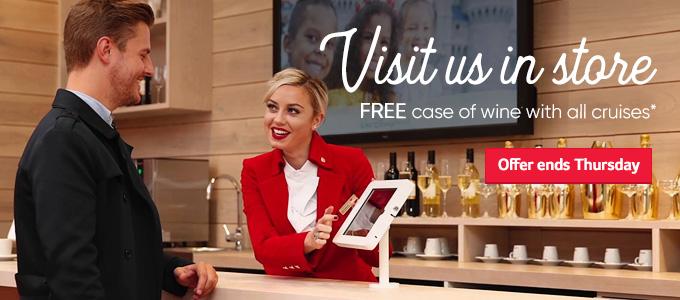 Visit us in store free wine