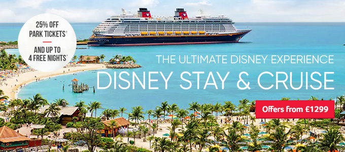 Generic | Disney Stay & Cruise | 25pc off park tickets and up to 4 free nights