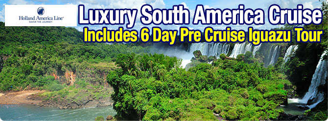 ms Zaandam South America with Iguazu Tour