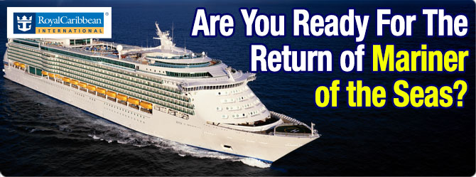 Mariner of the Seas returns to Singapore 10th Sept 2017