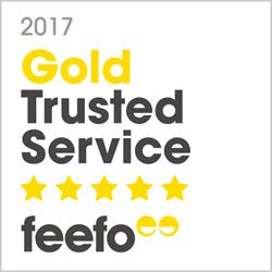 We are delighted to have been awarded the Feefo Gold Trusted Merchant Accreditation